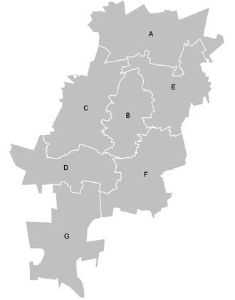 City of Johannesburg Metropolitan Municipality - Johannesburg administrative regions