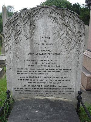 John Pennefather - Funerary monument, Brompton Cemetery, London