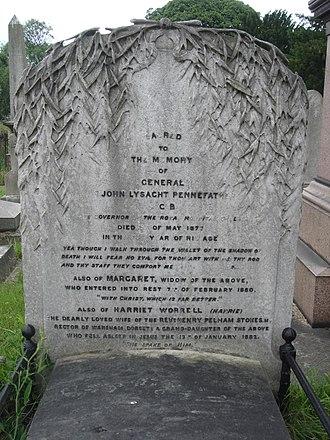 John Pennefather - Funerary monument, Brompton Cemetery, London