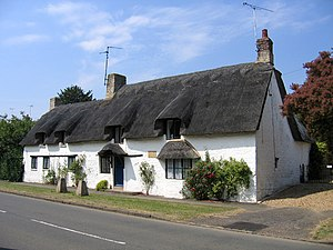 John Clare - Clare's birthplace, Helpston, Peterborough. The cottage was subdivided with his family renting a part.