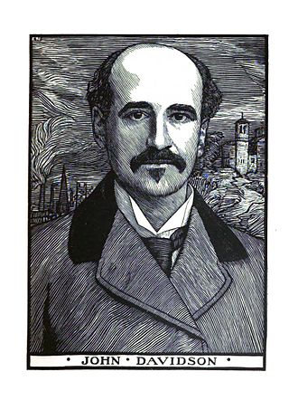 John Davidson (poet) - Woodcut of John Davidson by Robert Bryden 1902