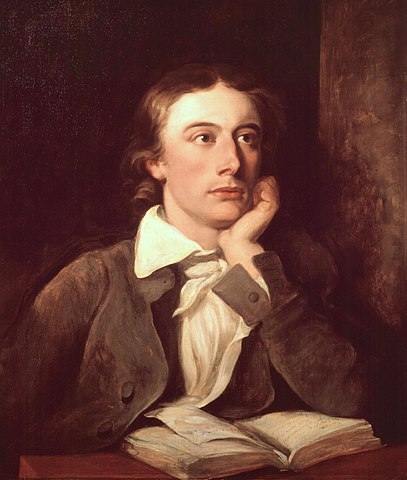 John Keats (seen here in a painting by William Hilton), whose death is referenced in Canto XI of Don Juan.