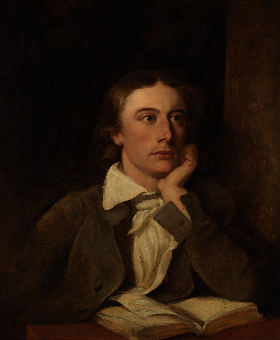 Posthumous portrait of John Keats by William Hilton. National Portrait Gallery, London