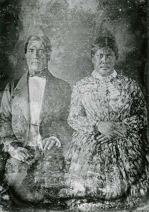 Mary Polly Paaaina - John Papa ʻĪʻī and Sarai Hiwauli, the hānai parents of Mary Polly Paʻaʻāina, ca. 1851