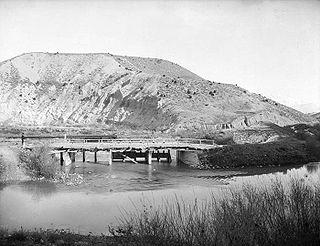 Jordan River (Utah) River feeding the Great Salt Lake, USA