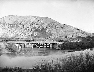Jordan River (Utah) - Dam at Jordan River Narrows in 1901