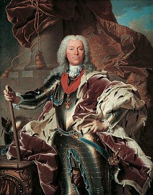 Joseph Wenzel I, Prince of Liechtenstein - Portrait by Hyacinthe Rigaud