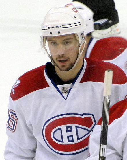 Gorges with the Canadiens in May 2010. Josh Georges 2010-05-02.JPG