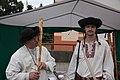 Jozef Mikulasek and his student, Jano Adamek - Slovak pipers at the Myjava Festival 2017.jpg