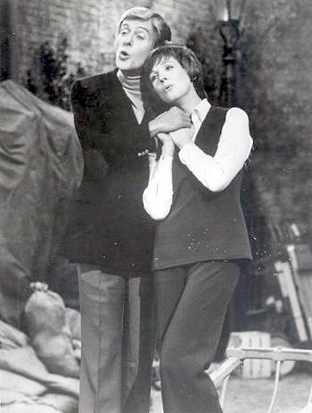 Julie Andrews and Dick van Dyke (Julie and Dick in Convent Garden) 1974 ABC TV Photograph