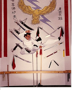 Julio Aguilera - Julio Aguilera during his still hairy Kung Fu days.