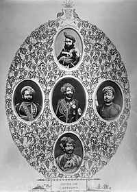 Junagadh Nawab's and state officials, 19th century.jpg