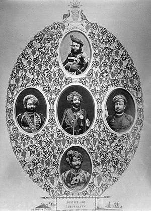 Junagadh - Junagadh Nawabs and state officials, 19th century.