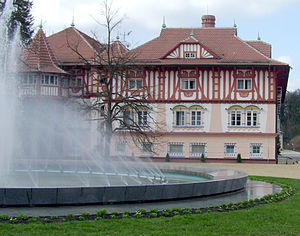 Mineral spa - Spa Luhačovice in Czech Republic (Hotel built by Dušan Jurkovič).