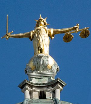 F. W. Pomeroy - Pomeroy's statue of Justice (1905–1906) at the Old Bailey