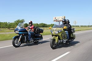 Kyle Petty Charity Ride Across America - Kyle Petty and Herschel Walker on 2016 Ride.