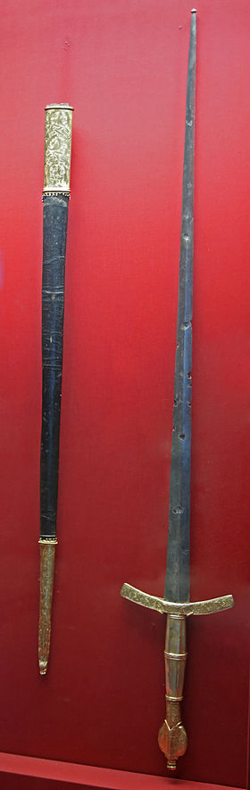 Ceremonial sword of the Rector of the Republic of Dubrovnik (15th century) KHM Wien A 141 - Ceremonial sword of the Rector of the Republic of Ragusa, 1466.jpg