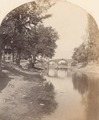 KITLV 100539 - Unknown - Akbar Bridge at the Jhelum and the Dal Lake just outside Srinagar in Kashmir in British India - Around 1870.tif