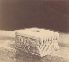 KITLV 87708 - Isidore van Kinsbergen - Pedestal of a Hindu-Javanese sculpture coming from the Dijeng plateau - Before 1900.tif