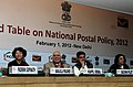 "Kapil Sibal addressing at the inauguration of the Roundtable Conference on ""National Postal Policy 2012"", in New Delhi. The Minister of State for Communications and Information Technology, Shri Sachin Pilot is also seen (1).jpg"