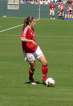 Kara Lang - Kara Lang in the Canada-USA match at the 2003 World Cup