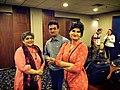 Karamot Ullah Biplob With Rabab Fatima (Left ) IOM Regional Coordinator & Bangladeshi eminent journalist Munni Saha . Bangkok, Thailand 2015.jpg