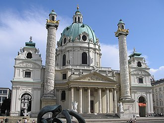 History of early modern period domes - Karlskirche, Vienna