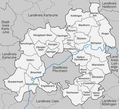 Pforzheim Karte.Enzkreis Wikipedia