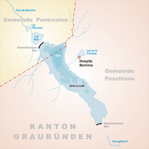 Lago Bianco -  map