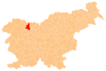 The location of the Municipality of Radovljica