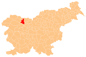 Municipality of Radovljica - Image: Karte Radovljica si