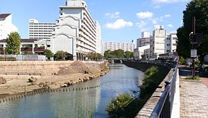 Katabira River running through Kanagawa, Japan 2013-09-20.JPG
