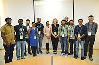 Katherine Maher with Wikimedians - Wiki Conference India - CGC - Mohali 2016-08-05 7298.JPG