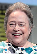 Photo of actress Kathy Bates at the 2015 San Diego Comic-Con International.