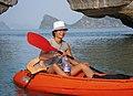 Kayak off Cat Ba, December 2004.jpg