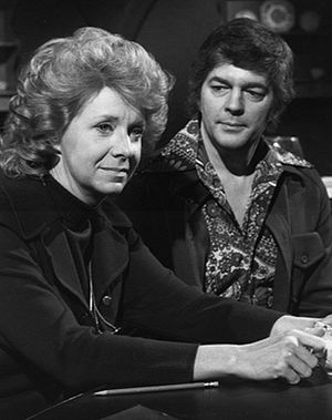 Kaye Stevens - Stevens as Jeri Clayton with Bill Hayes in Days of Our Lives, 1974.