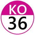 Keio KO36 station number.png