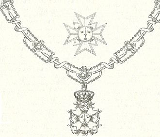 Order of the Sword - Collar and star of the order