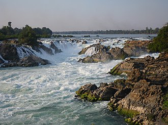 Mekong expedition of 1866–1868 - The Khone Falls in Southern Laos