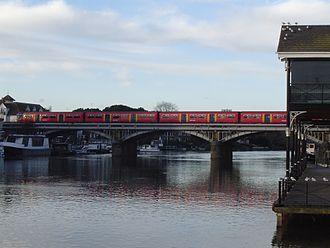 Kingston Railway Bridge - South West Trains service crossing Kingston Railway Bridge