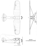 Kinner Courier 3-view Aero Digest May 1928.png