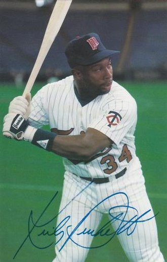 Kirby Puckett - Puckett in 1987