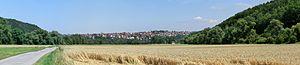 Kirchentellinsfurt - Image: Kirchentellinsfurt Panorama Juli 2014