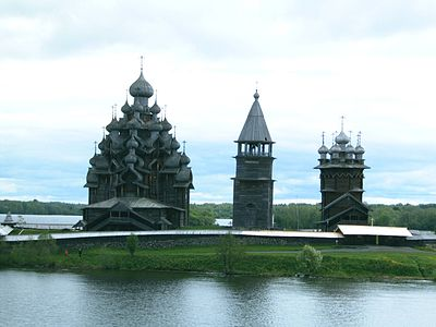 A view of Kizhi from Lake Onega