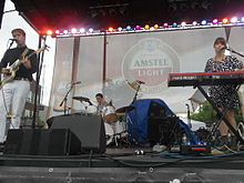 Kisses (band) performing at the Taste of Randolph Street at Chicago, IL 6.15.2013.JPG