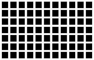 Lateral inhibition - Optical illusion caused by lateral inhibition