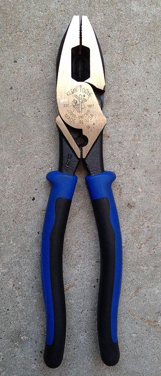 Pliers - Image: Klein lineman's pliers