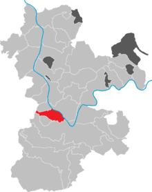 Lokasi kota di Distrik Miltenberg .
