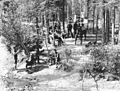 Klondikers gathered at the Bonanza Park Mineral Springs, probably on Bonanza Creek, Yukon Territory, ca 1898 (HEGG 189).jpeg
