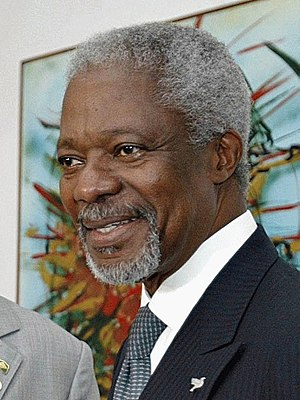 United Nations Secretary-General Kofi Annan up...